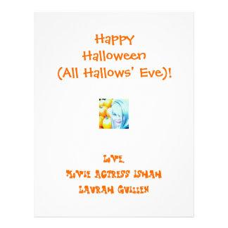 O Dia das Bruxas feliz (tudo Hallows a véspera)! Panfleto Coloridos