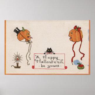 O Dia das Bruxas GreetingMr. & Sra. Jack-O-Lantern Poster