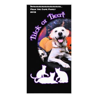 O Dia das Bruxas - Labrador - Macy Cartão Com Foto