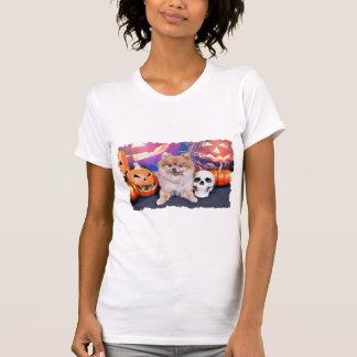 O Dia das Bruxas - Pomeranian - Simba Camisetas
