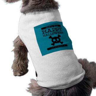 O Dia das Bruxas retro tipográfico Camisa Sem Mangas Para Cachorro
