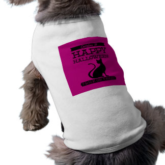 O Dia das Bruxas retro tipográfico Camiseta