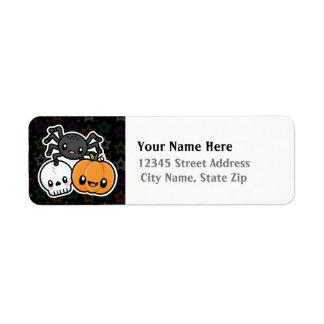 O Dia das Bruxas trata etiquetas de endereço do