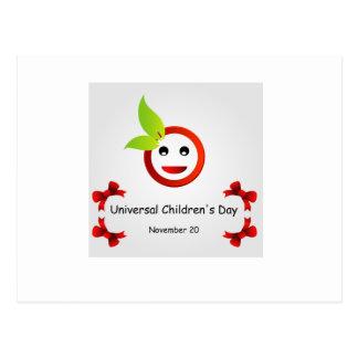 O dia das crianças universais 20 de novembro cartão postal