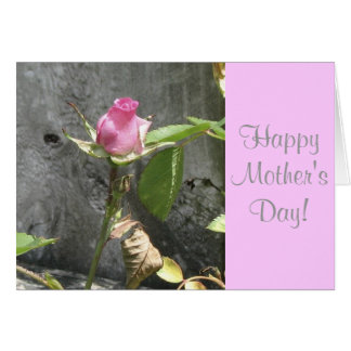 O dia das mães feliz aumentou cartão comemorativo