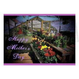 O dia das mães floresce o cartão
