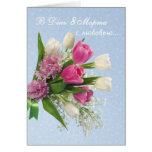 O dia das mulheres internacionais, primavera cartão comemorativo