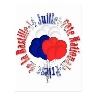 O dia de Bastille Balloons o cartão