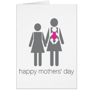 O dia de mães feliz! cartão comemorativo