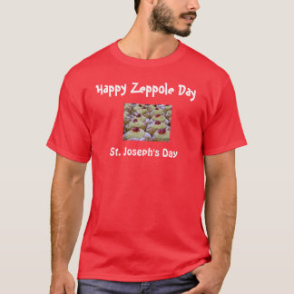 O dia de St Joseph/t-shirt de Zeppole Camiseta