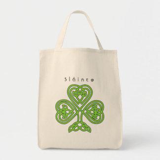 O dia de St Patrick celta do trevo do design Bolsa Tote