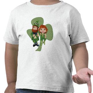 O dia de St Patrick da arte do pixel de Leprecauns Tshirts