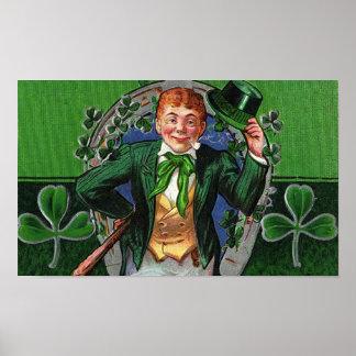 O dia de St Patrick Dapper do vintage do Poster