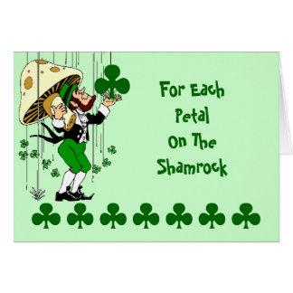O dia de St Patrick de bênção irlandês do cartão