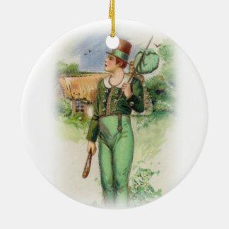 O dia de St Patrick - vintage Ornamento De Cerâmica Redondo