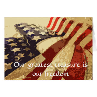 O dia de veterano nosso grande cartão do tesouro