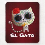 O dia do gato bonito inoperante mouse pad