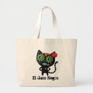 O dia do gato preto inoperante sacola tote jumbo
