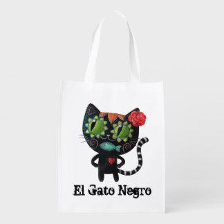 O dia do gato preto inoperante sacola ecológica
