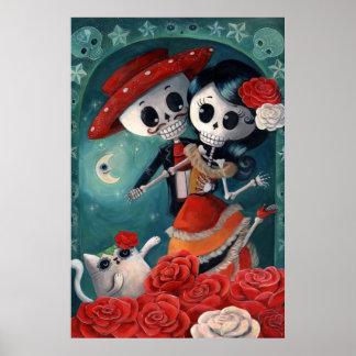 O dia dos amantes de esqueleto inoperantes pôster