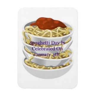 O dia dos espaguetes é o 4 de janeiro ímã