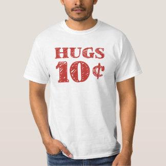 O dia dos namorados abraça 10 centavos camiseta