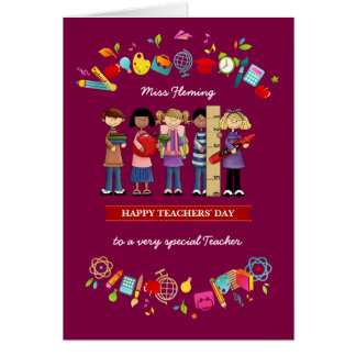 O dia dos professores felizes. Cartões