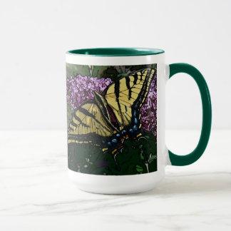 O dia novo jardina caneca Swallowtail W