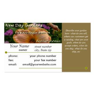 O dia novo jardina molde Brown do cartão de visita