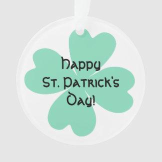 O dia verde pálido de St Patrick do trevo