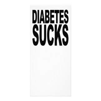 O diabetes suga 10.16 x 22.86cm panfleto