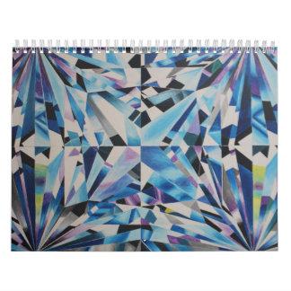 O diamante de vidro dois pagina, meio, calendário