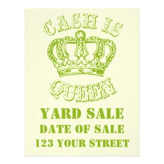 O dinheiro é rainha - venda de jardim modelo de panfletos