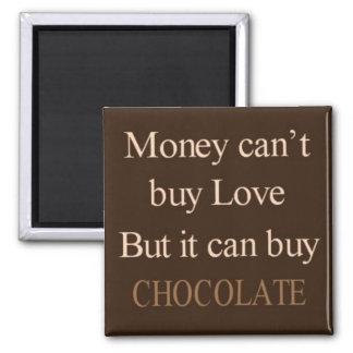 O dinheiro não pode comprar o amor mas pode compra ímã quadrado