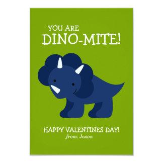 O dinossauro azul caçoa namorados convite personalizados