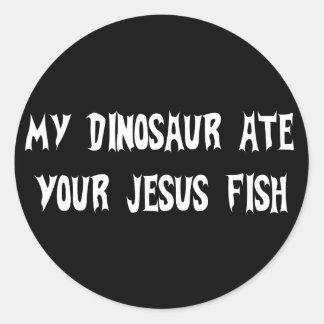 O dinossauro come peixes de Jesus Adesivos