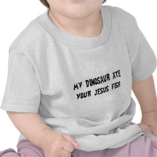 O dinossauro come peixes de Jesus T-shirts