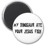 O dinossauro come peixes de Jesus Imãs De Refrigerador