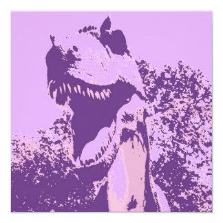 O dinossauro do aniversário convida convite quadrado 13.35 x 13.35cm