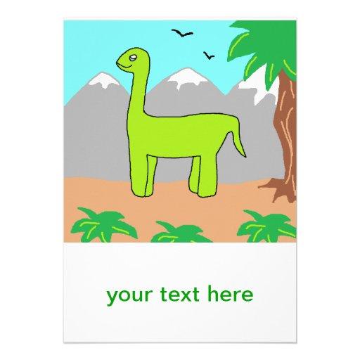 O dinossauro feliz convites personalizado