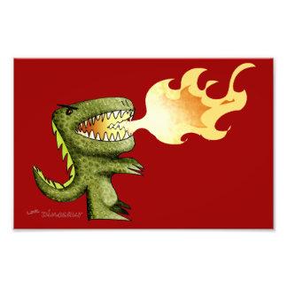 O dinossauro ou o dragão caçoam a arte com Loston  Fotos