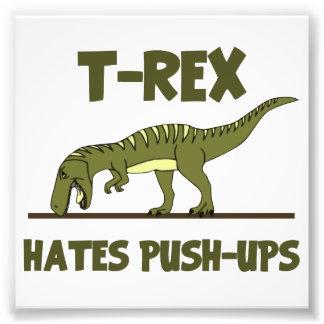 O dinossauro que de Rex do tiranossauro os ódios Impressão De Foto