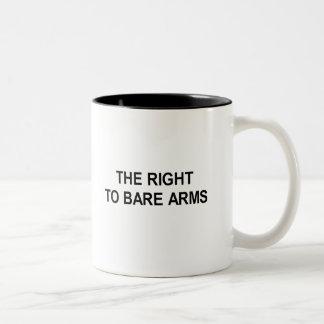 o direito de descobrir o t-shirt dos braços caneca