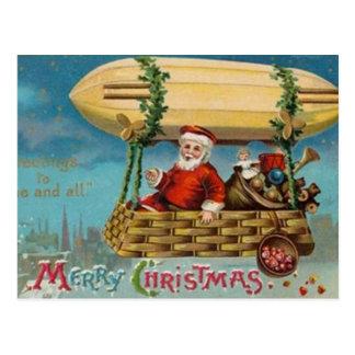 O dirigível do papai noel cartão postal
