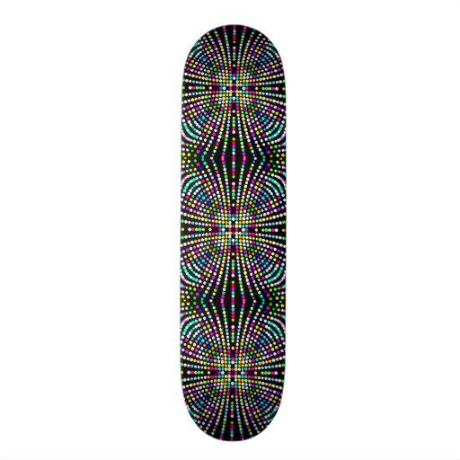 O disco está para trás cruz colorida do divertimen skate personalizado