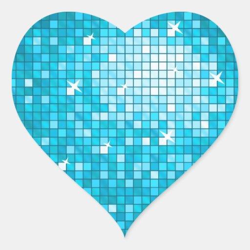 Adesivo Azul Com Coração De Seta ~ O disco telha o coraç u00e3o azul da etiqueta adesivo em forma de coraç u00e3o Zazzle