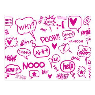 o discurso cor-de-rosa borbulha o cartão 01