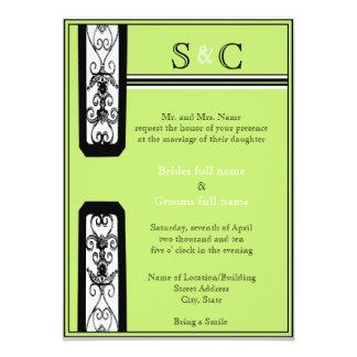 O divertimento e o verde convidam convite 12.7 x 17.78cm