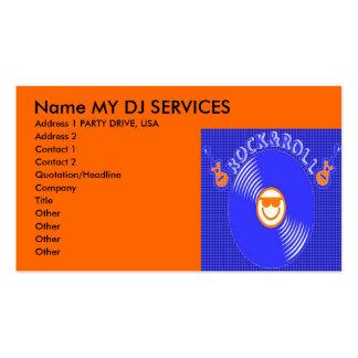 O DJ presta serviços de manutenção a cartões de vi Modelo Cartões De Visitas
