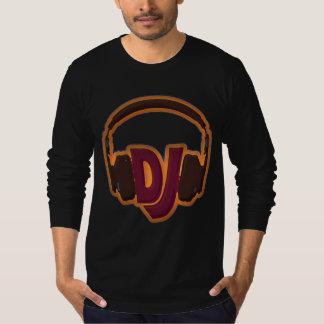 O DJ veste fones de ouvido Tshirt